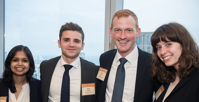 Summer associates attend the firm's 15th Annual Diversity Dinner.