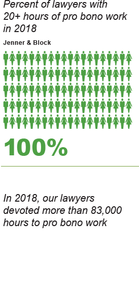 Our Pro Bono numbers from 2018
