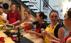 2018 LA summer associates attend a sushi making class.