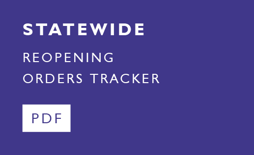 Click here to view our COVID Reopening Tracker