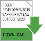 Recent Developments in Bankruptcy Law - October 2020 button
