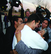 Freedom for Juan Rivera Hugging His Mom