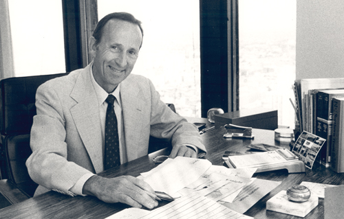 Tom Sullivan at his Desk