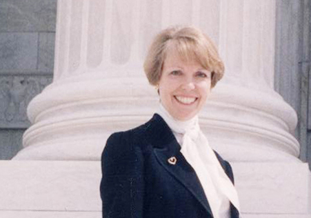 Joan Hall at the US Supreme Court