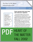 Pro Bono Newsletter, 2002 Fall Heart-of-the-Matter-Newsletter