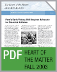 Pro Bono Newsletter, 2003 Fall Heart-of-the-Matter-Newsletter