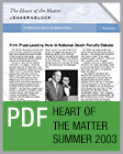 Pro Bono Newsletter, 2003 Summer Heart-of-the-Matter-Newsletter