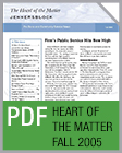Pro Bono Newsletter, 2005 Fall Heart-of-the-Matter-Newsletter