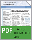Pro Bono Newsletter, 2006 Heart-of-the-Matter
