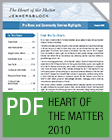Pro Bono Newsletter, 2010 Heart of the Matter