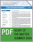 Pro Bono Newsletter, 2004 Summer Heart of the Matter