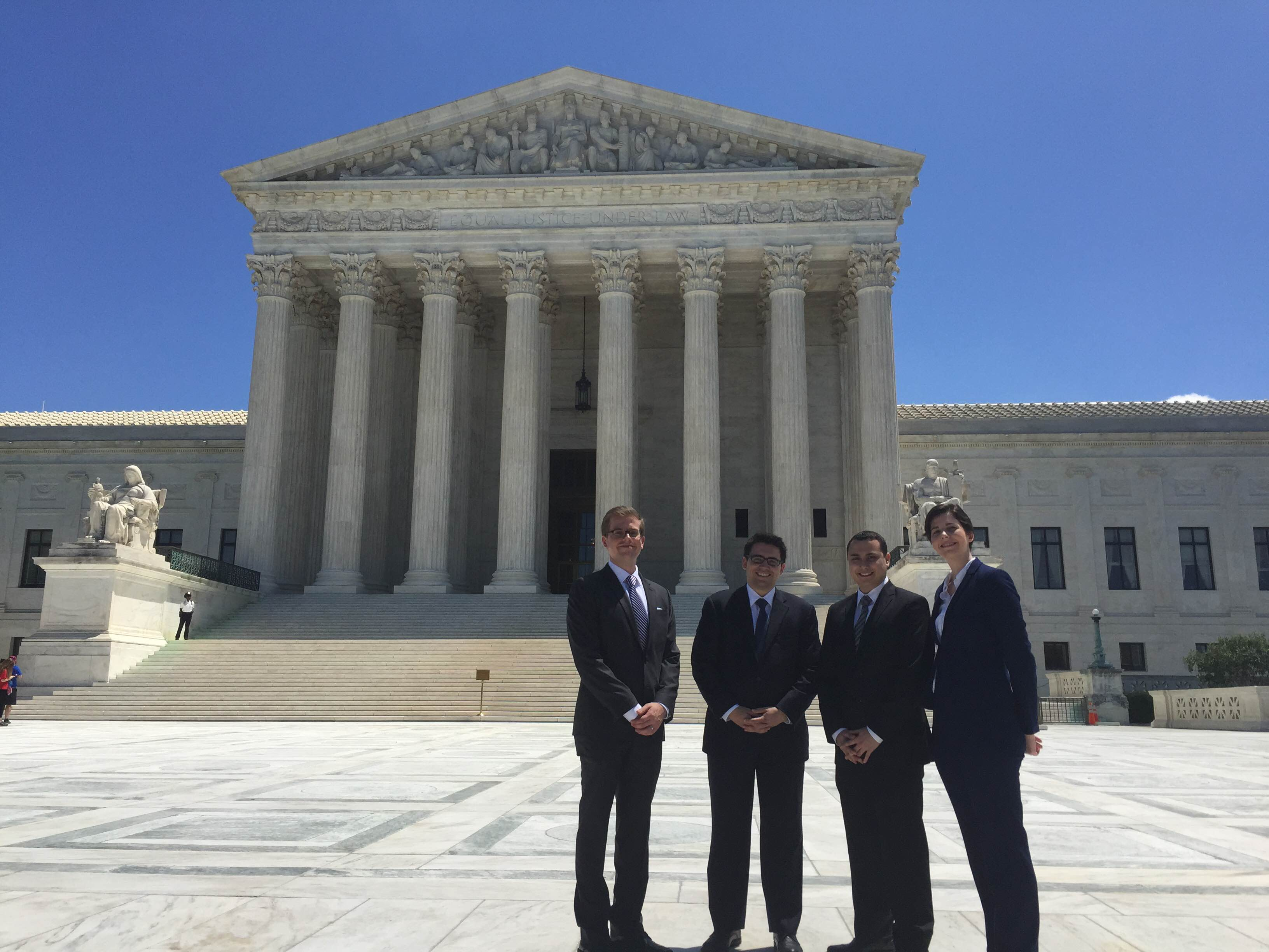 A few of the 2015 Washington DC summer associates enjoyed a tour of the US Supreme Court